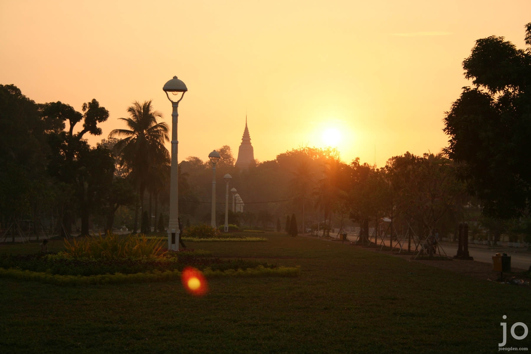 Sunrise at Wat Phnom, Phnom Penh, Cambodia
