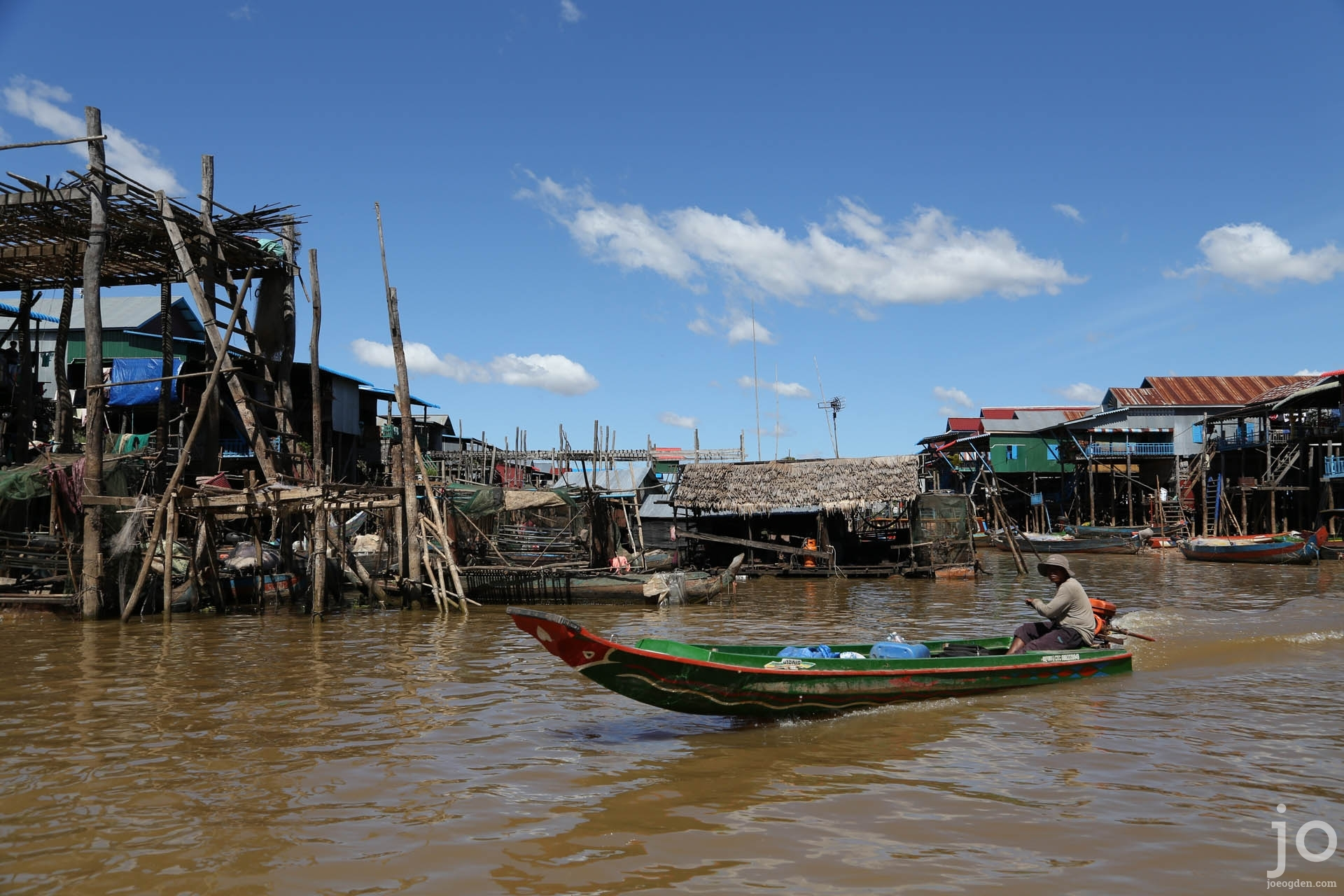 Floating village on the Tonle Sap lake, Siem Reap, Cambodia