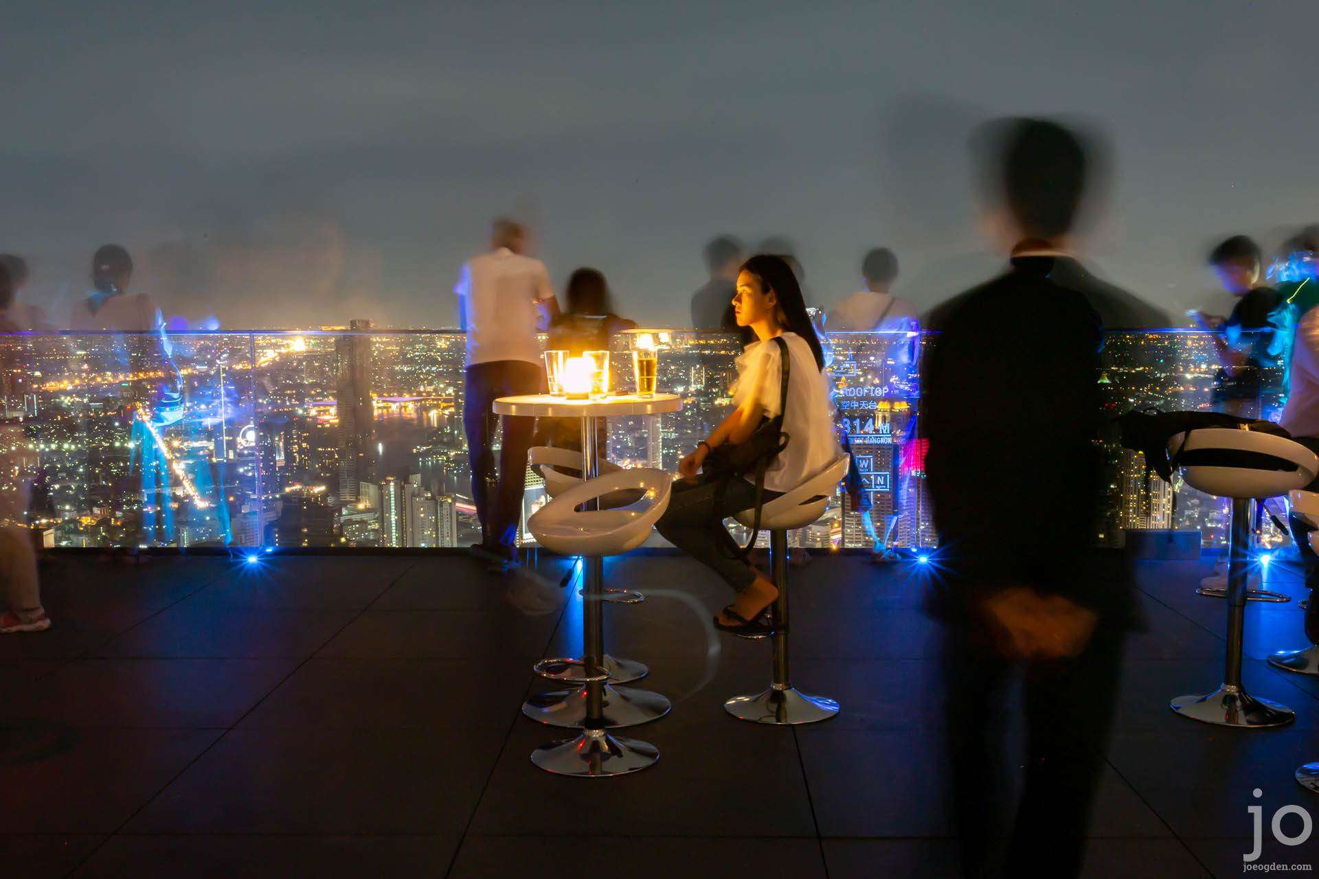 Rooftop bar at King Power Maha Nakhon Tower, Bangkok, Thailand