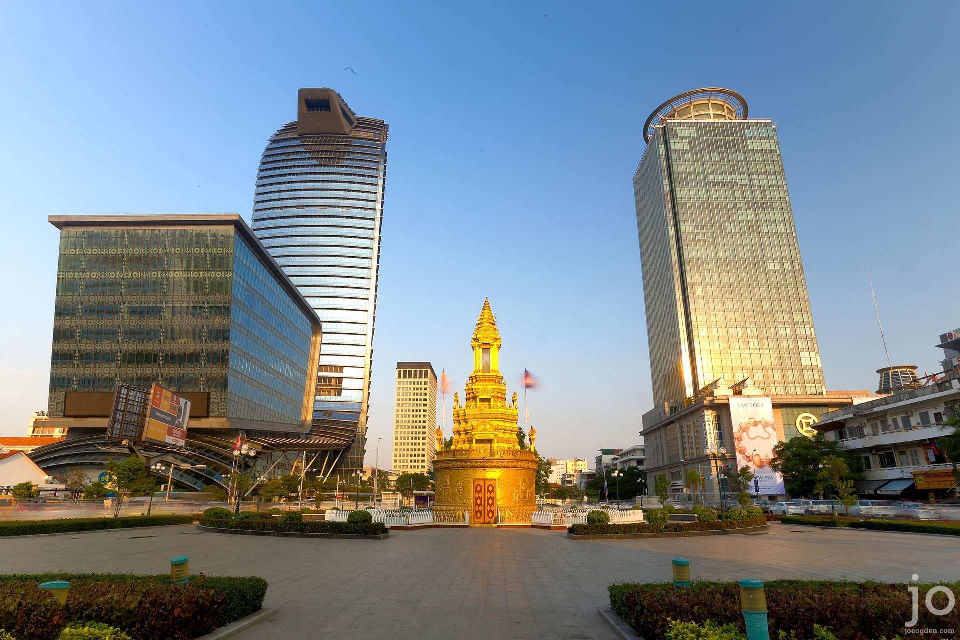 Skyscrapers in Phnom Penh, Cambodia