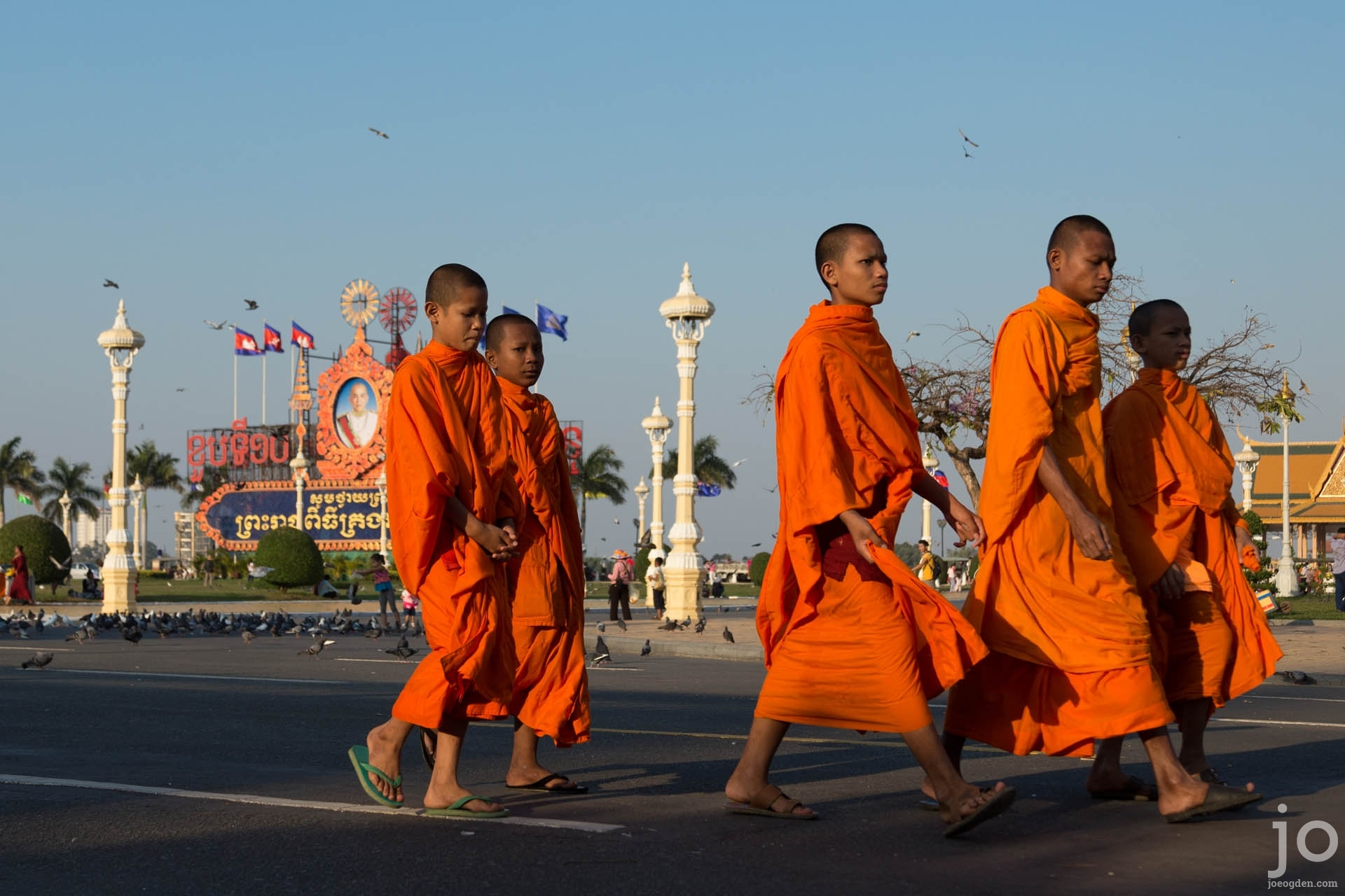 Monks outside the Royal Palace, Phnom Penh, Cambodia