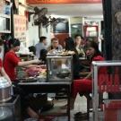 Hanoi street-side restaurant, Vietnam