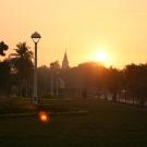 Sunrise at Wat Phnom, Phnom Penh, Cambodia