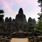 Sunrise over Bayon temple, Siem Reap, Cambodia
