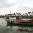 Kampot old bridge, Cambodia