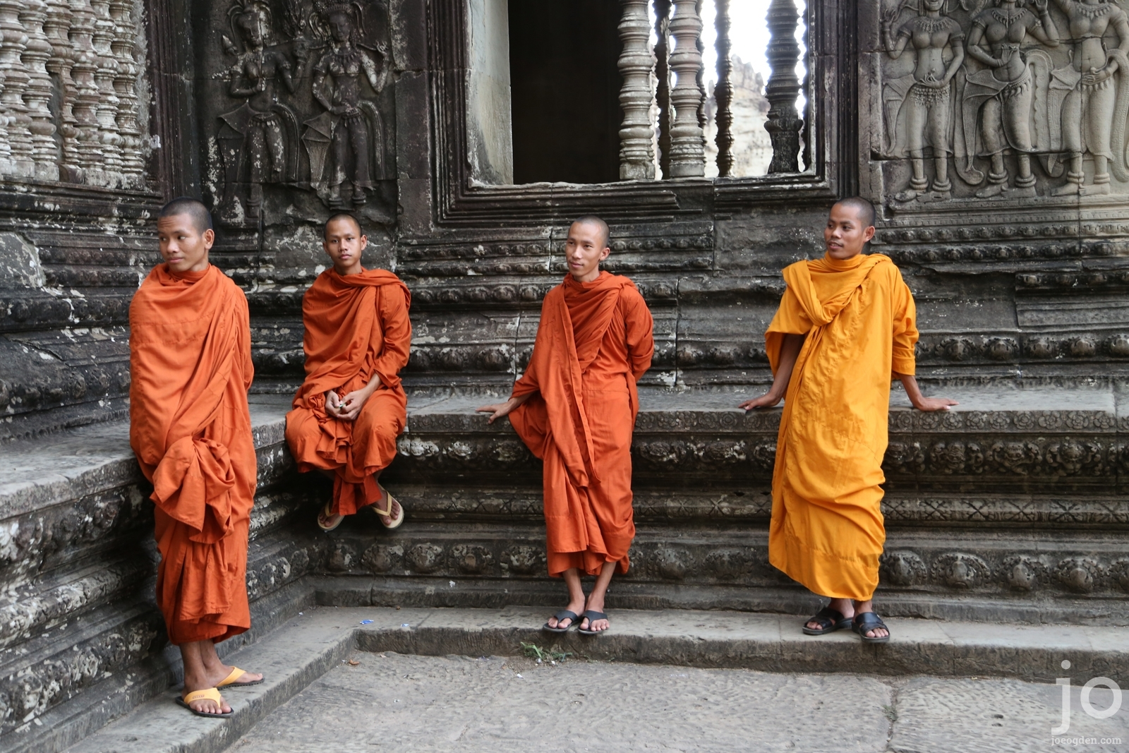 Monks at Angkor Wat, Siem Reap, Cambodia