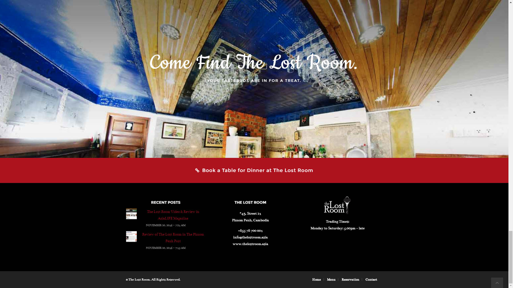 The lost room restaurant website design joe ogden cambodia for The make room website